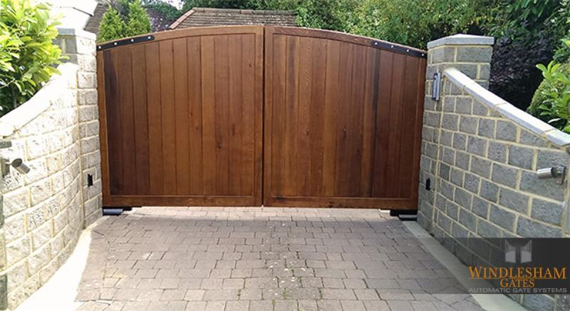 Arched Wooden Driveway Gates