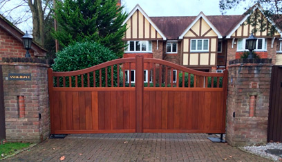Electric Wooden Gates in Woking with Intercom