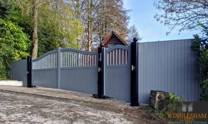 Accoya Swing Gates and Panelling and Pedestrian Gate Alton