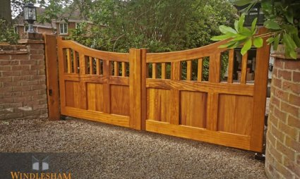 Iroko Hardwood Gates in Camberley - Surrey