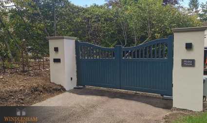 Electric Timber Gates, Camberley Surrey